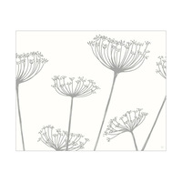 Meadow Flowers Grey on White Only It's Horizontal This Time Wow