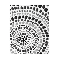 Radiant Dots Black On White