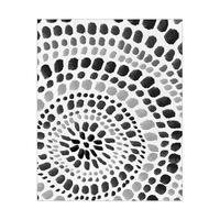 Radiant Dots Black On White
