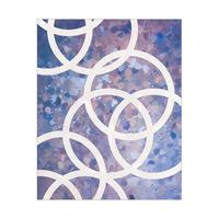 White Circles on Purple