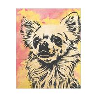 Chihuahua Watercolor Alpha