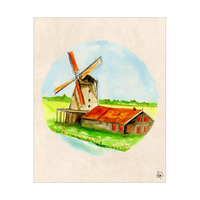 Windmill In Holland Omega