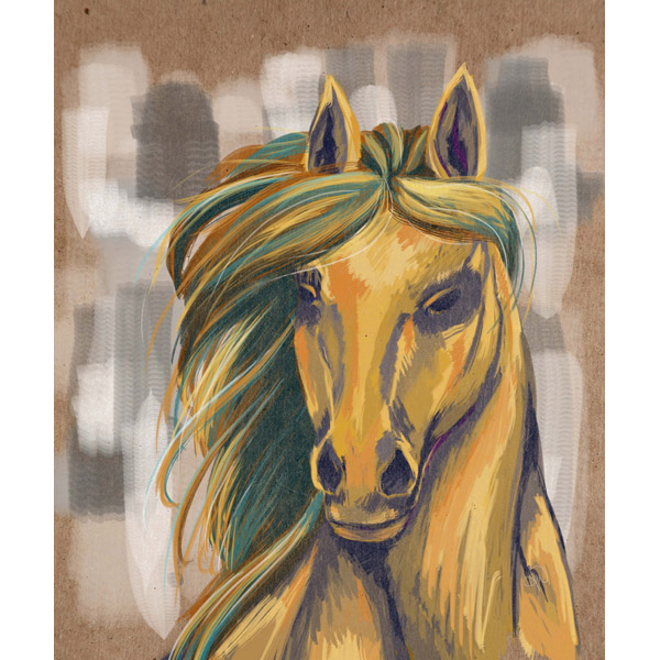 Majestic Mare on Beige