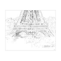 Triptych Eiffel Tower Drawing Bottom
