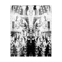 crystal chandelier (BW)