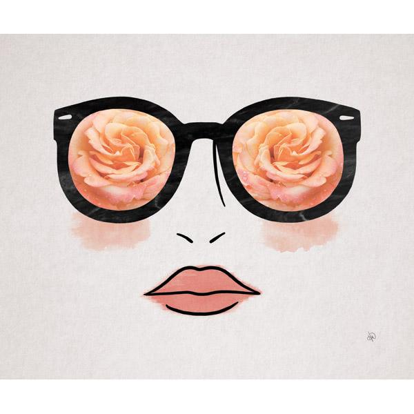 Peach Rose Glasses