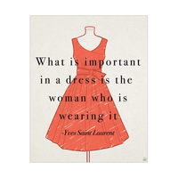 Yves Saint Laurent Quote - Red