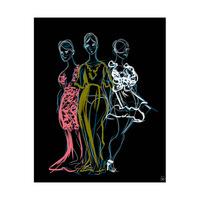 Fashionista Trio Blue Sketch