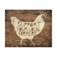 Local Farmers Chicken Antique Wood