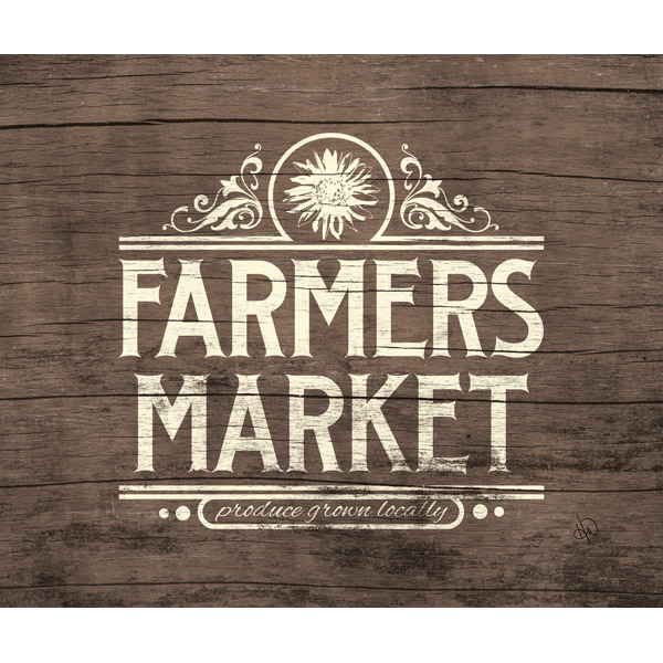 Rustic Farmer's Market Sign Beta