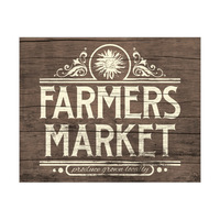 Rustic Farmer's Market Sign Beta
