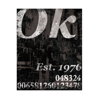 Distressed Ok - Charcoal