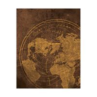 Rusty Metal World Map